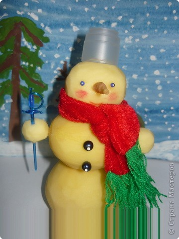 язык снеговик из картошки картинки проволоки