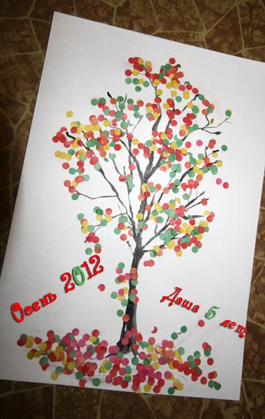 Дерево из конфетти
