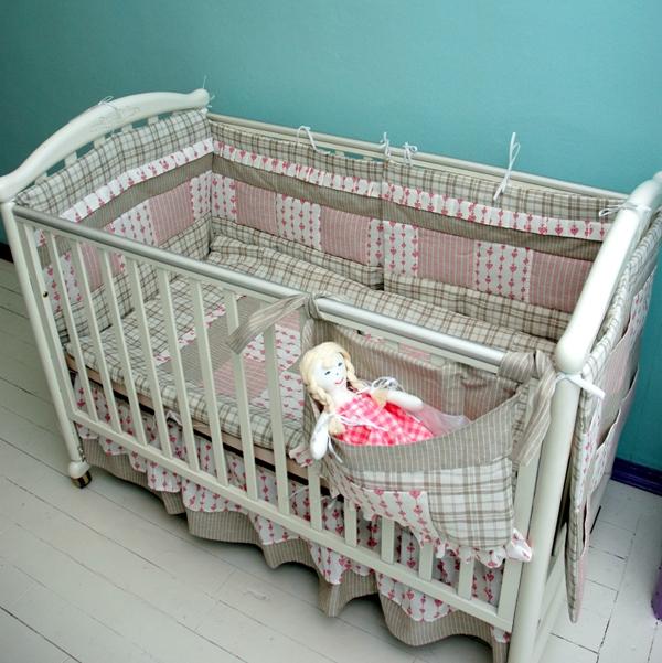Комплекты в кроватку для новорожденных сшить своими