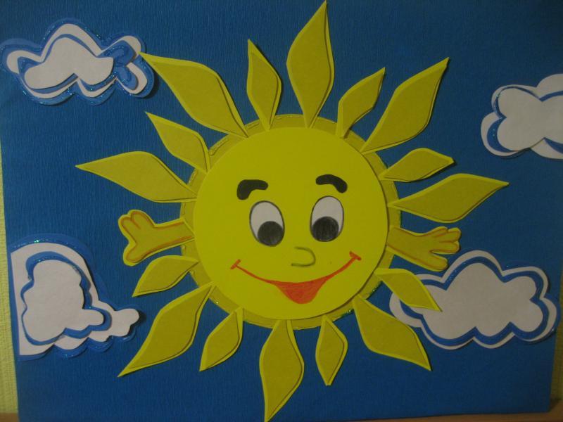 Картинка солнышко своими руками для детского сада